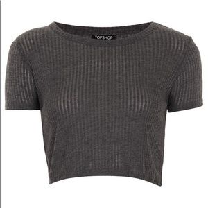 Topshop Ribbed Crop Top